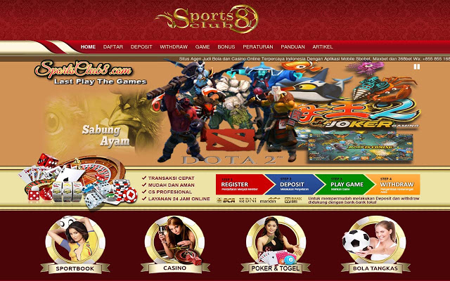 Agen Bola Online Resmi Indonesia Sportsclub8